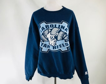 15ff29370dcbb5 Vintage 80s Starter North Carolina Tar Heels Blue Sweatshirt UNC Sz XL USA  Made