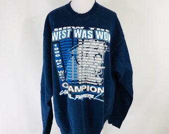 4453cc45a Vintage 96 Starter NFL Carolina Panthers Division Champions Sweatshirt Sz XL  USA Made