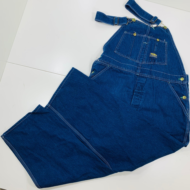 Vintage Overalls & Jumpsuits Vtg 80S Oshkosh Union Made Blue Carpenter Bib Overalls Denim Vestbak Size 38x28 $0.00 AT vintagedancer.com