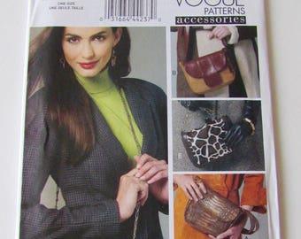 Woman's Lined Handbag or Purse- Vogue Pattern V8782- Uncut