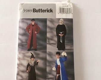 Butterick 4050 Unisex Hooded Robe Wizard Cosplay Costume Pattern Choose Size Uncut Druid Monk