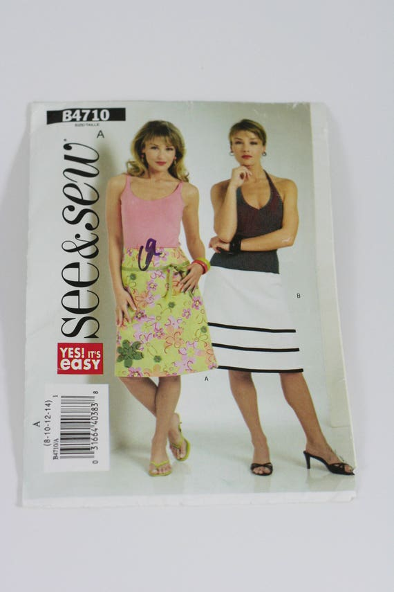 d87a66a37985 Woman s Easy to Sew Skirt See   Sew B4710 Uncut
