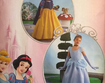 Girl's Princess Costume, Cinderella and Snow White  Simplicity Pattern 2817- Uncut