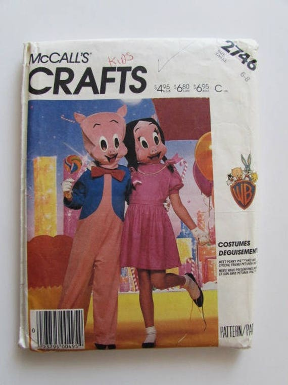 Vintage Porky And Petunia Pig Looney Tunes Costume