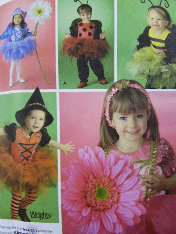 Ladybug 3 Simplicity 3615 Infant And Toddler Kids Flower Bee 4 Witch Costume Sewing Pattern 12 2 1