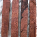 """real Coastal Redwood burl blanks, 6.25""""x1""""x1"""" or 7x1x1 or 8.25-9x1x1, set of 4, Sequoia sempervirens, pen knife handle wand blanks"""