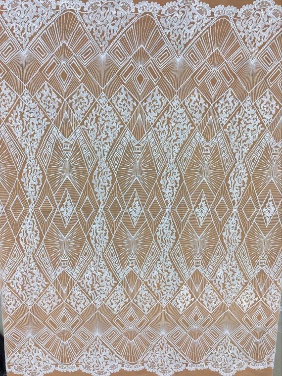 2018 Newest Tulle Fabric With Sequin Embroidery Lace Fabric Etsy