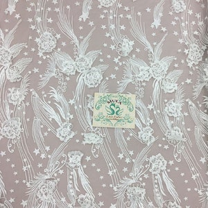 3D Exquisite Embroidery Floral Fishtail Wedding Dress Mesh Lace Fabric 51WideYard