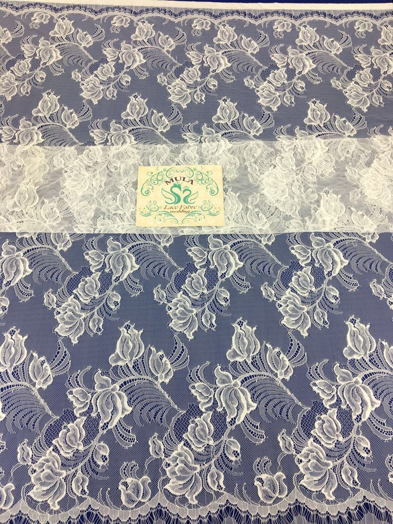 Fashion Tulle French Lace Fabric.Elegant Quality 100/% Nylon Lace With Eyelash.150CM Width 300CM Length French Lace By Piece.Bridal Lace.