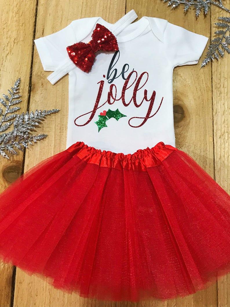 3f43e9a902a7 Jolly onesie jolly baby santa onesie holiday baby girl | Etsy