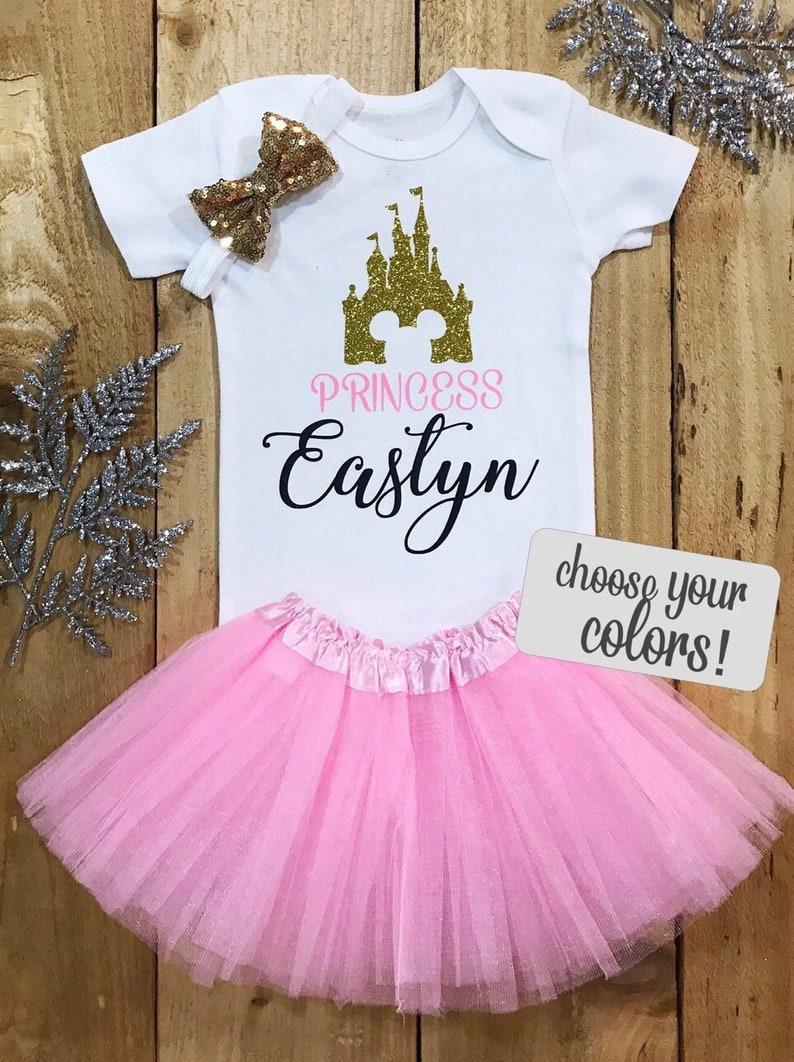 2cbce751a76f2 Grenouillère Château Disney Princesse tenue de bébé fille