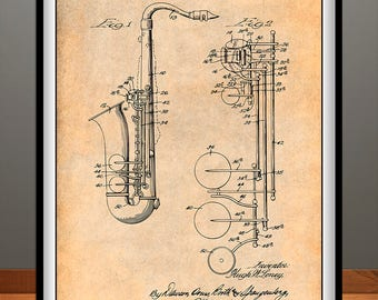 5fe5cdd58e621 Saxophone patent | Etsy