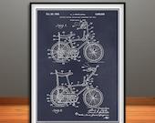 1968 Stingray Bicycle Patent Print, Bicycling Enthusiast, Stingray Bike, Bicycle Patent, Bike Wall Art, Cyclist Gift, Cyclist Decor