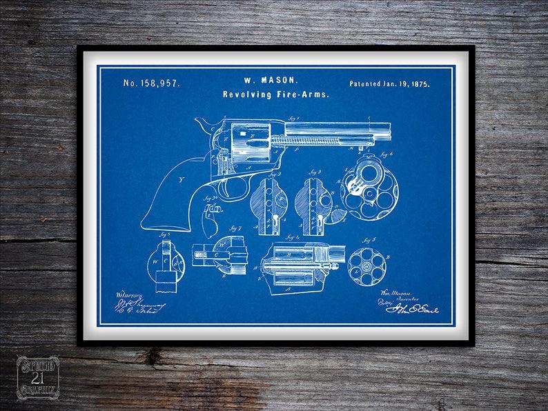 Colt Peacemaker, Pistol, Gun Patent Art, Peace Maker, Colt, Revolver  Patent, Pistol Patent, Gun, Old West, 1875, Marksman, Shooter