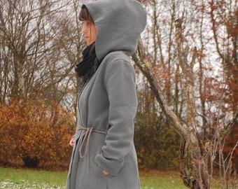 Woll- Mantel Salbei Winter Verstellbare Größe 40 42 44 5b5d7e1478