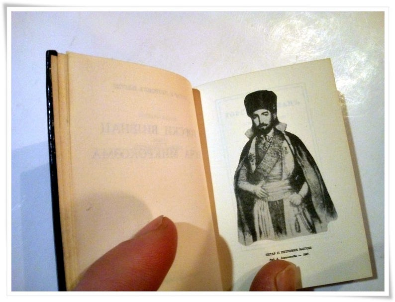 The Mountain Wreath Горски вијенац Mini Hardcover Ed  Gorski Vijenac  Serbian Literature Masterpiece Luxury 3-inch Edition
