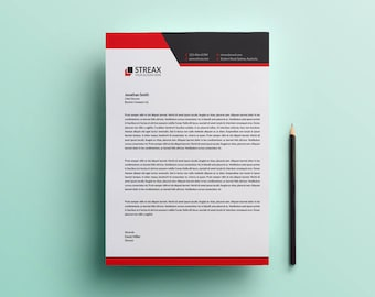 digital letterhead etsy