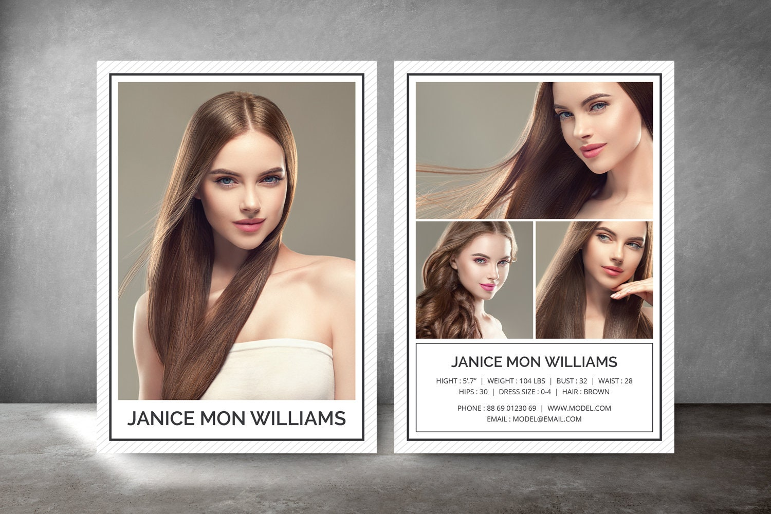 Modeling Comp Card Fashion Model Comp Card Comp Card  Etsy For Download Comp Card Template