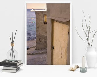 Grand Harbour Door Photography Print, Wall Art, Color Print, Printable Art, Instant Digital Download Print