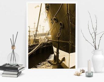 South Street Seaport Photography Print, Wall Art, Color Print, Printable Art, Instant Digital Download Print