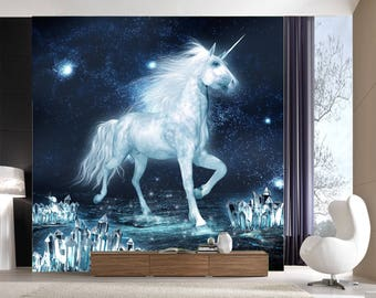 Unicorn wall murals Etsy