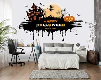 Halloween murals Etsy