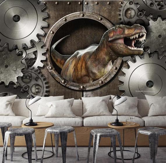 3d Dinosaure Zz 22 Vues Papier Peint Mural Mur Impression Sticker