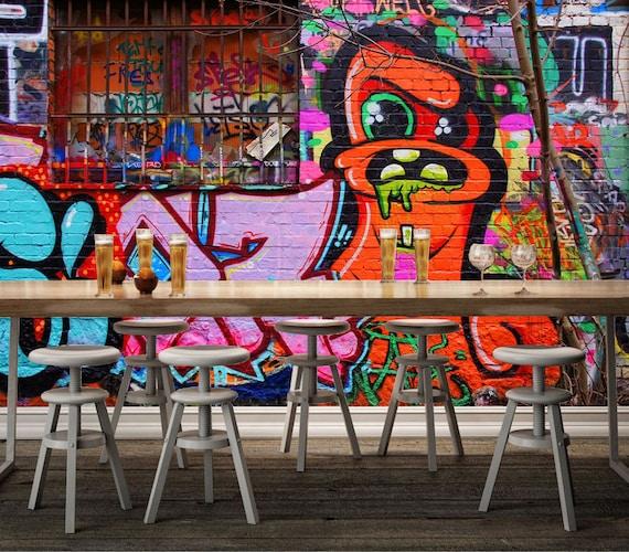 3D Graffiti 660 View Wallpaper Mural Wall Print Decal Wall  Etsy