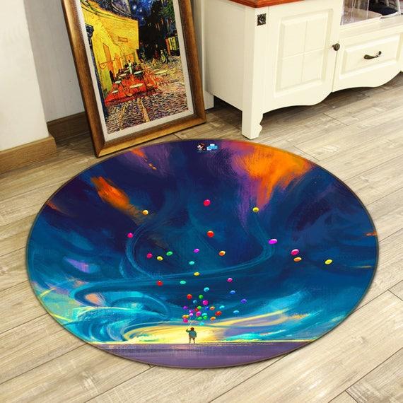 3D Purple Sky Tree 55 Non Slip Rug Mat Room Mat Round Elegant Photo Carpet AU