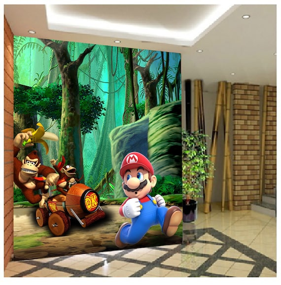 3D Super Mario 809 View Wallpaper Mural Wall Print Decal Wall | Etsy