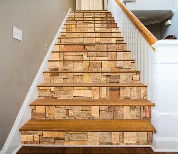 3D Wood Box Pattern View 25 Staircase Stairway Stairs