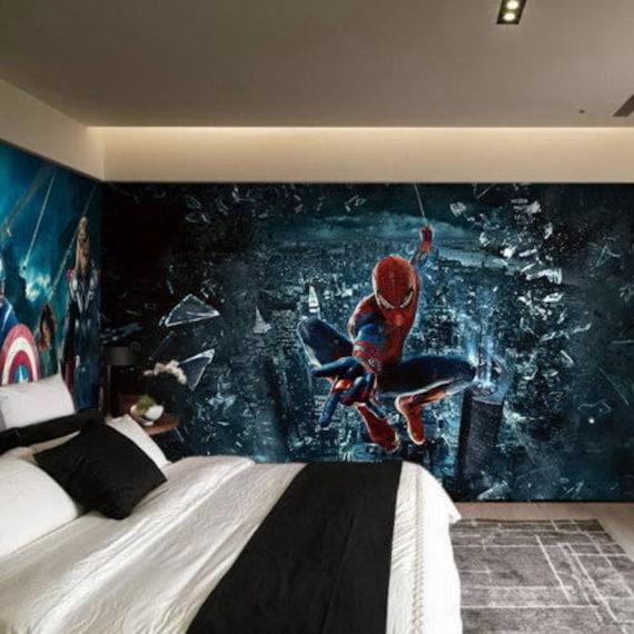3D Spider Man Views Wallpaper Mural Wall Print Decal Wall