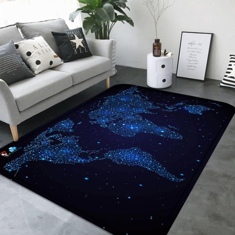 Smithsonian World Map Rug: Carpet Vidalondon