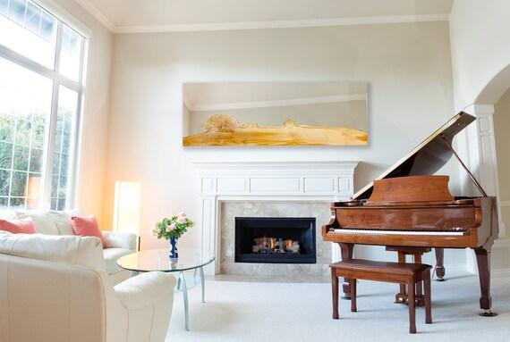 CUSTOM - Large Maple WALL MIRROR - Living Room - Modern - Live Edge -  Minimalistic