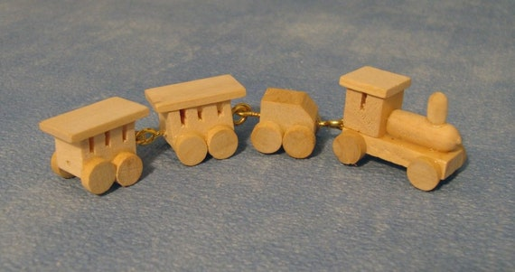 Wooden Train Set Miniature For 112 Scale Dolls Houses