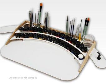 HobbyZone Large Paint Station 55 x 35cm Takes 26mm Diameter Paints