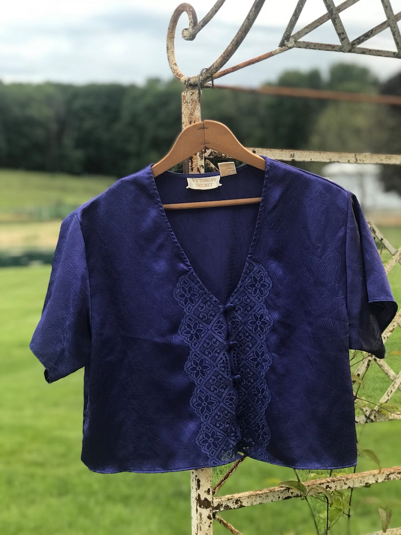 free shipping size small purple shiny top and bottomtwo piece pajama set lingerie blouse and shirt