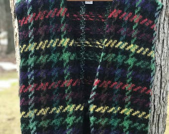 80's mohair wool patterned vest size medium