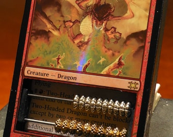 Two-Headed Dragon FOIL MTG Life Counter Abacus-style