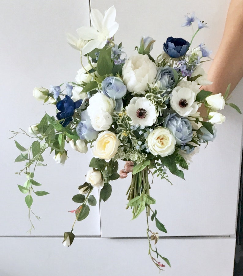 Artificial bouquet Wedding Bouquet blue roses