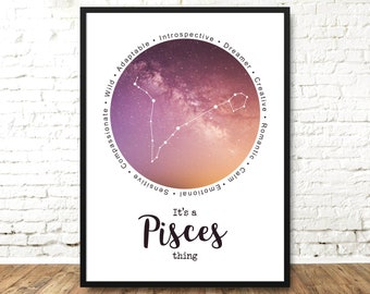cancer Constellation Print Wall Art Astronomy Space Star SIGN Gift a4 UNFRAMED