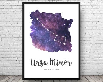 Ursa Minor - Constellation Print - Galaxy Decor - Constellation Art - Space Print - Astronomy Print - Astronomy Decor - Galaxy Wall Art