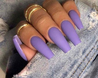 Acrylic Nails Coffin Etsy