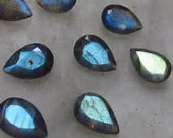 10 pieces labradorite pear cut faceted gemstone natural gemstone calibrated size