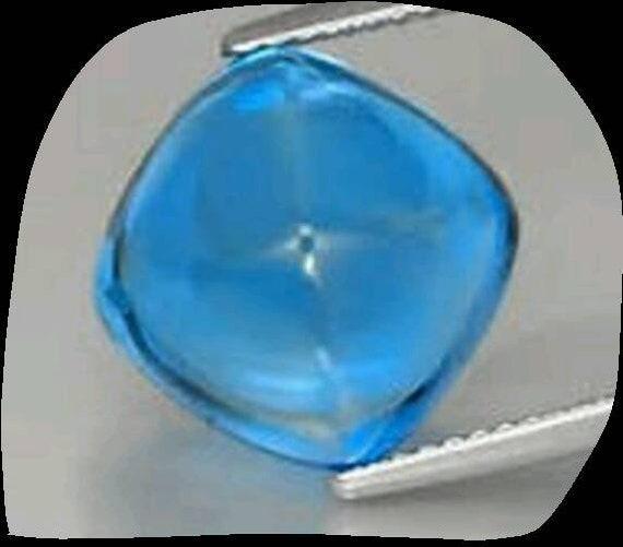 10 pieces blue topaz  square shape cabochon gemstone calibrated size