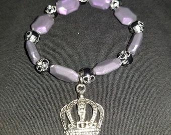 Purple Crown Charm bracelet