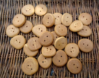6 Wood Novelty Panda Face design Sewing Craft Buttons 23mm Fun button