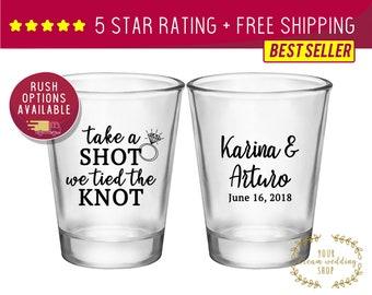 Wedding Shot Glasses Etsy