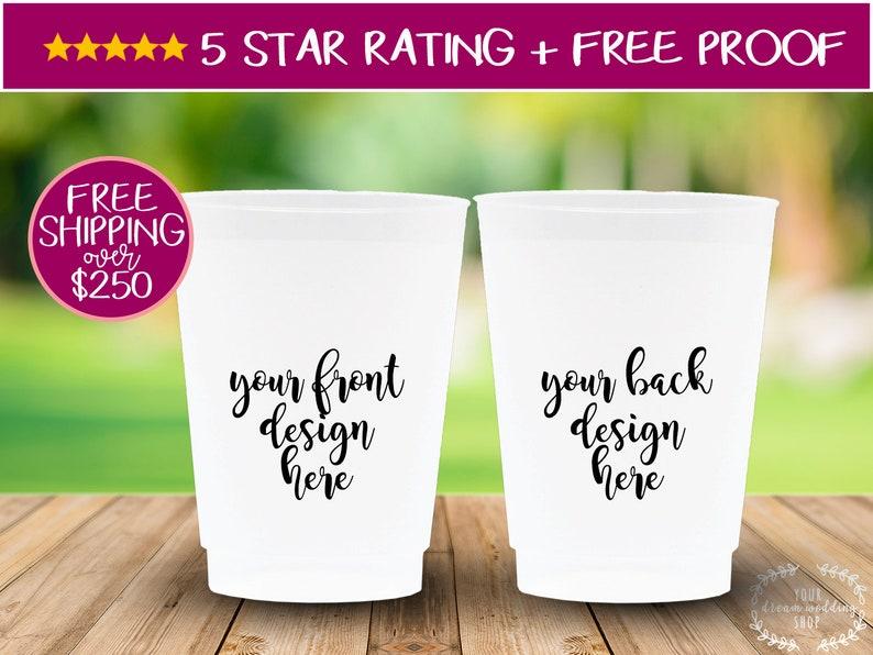 Custom Birthday Cups 12oz Personalized Cups Frosted Cups Custom Cups Plastic Cups Custom Cups Birthday Cups Stadium Cups Party Cups