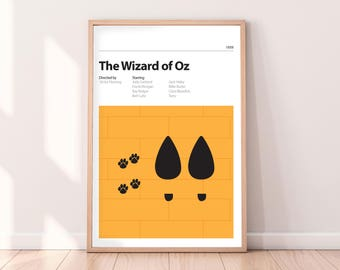 WIZARD of OZ - Alternative Movie Poster - Judy Garland - Yellow Brick Road - Toto - PRINT